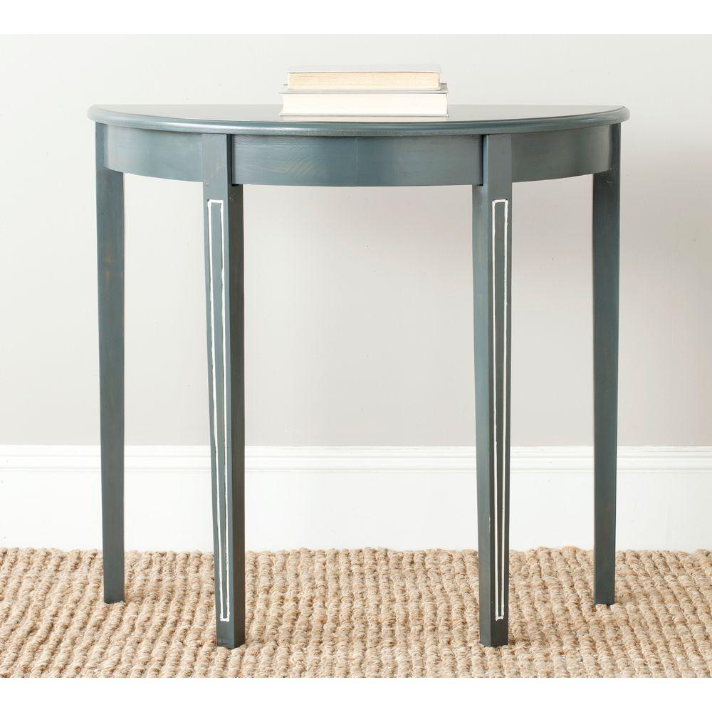 Teal Sofa Table: Safavieh Jethro Steel Teal Console Table AMH6622B