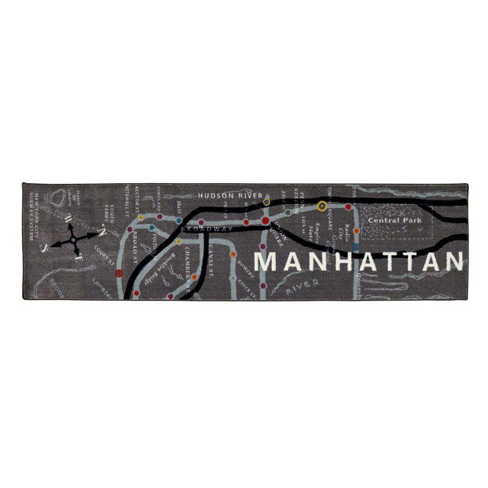 Mohawk Home Manhattan Map Multi 2 Ft X 8 Ft Indoor