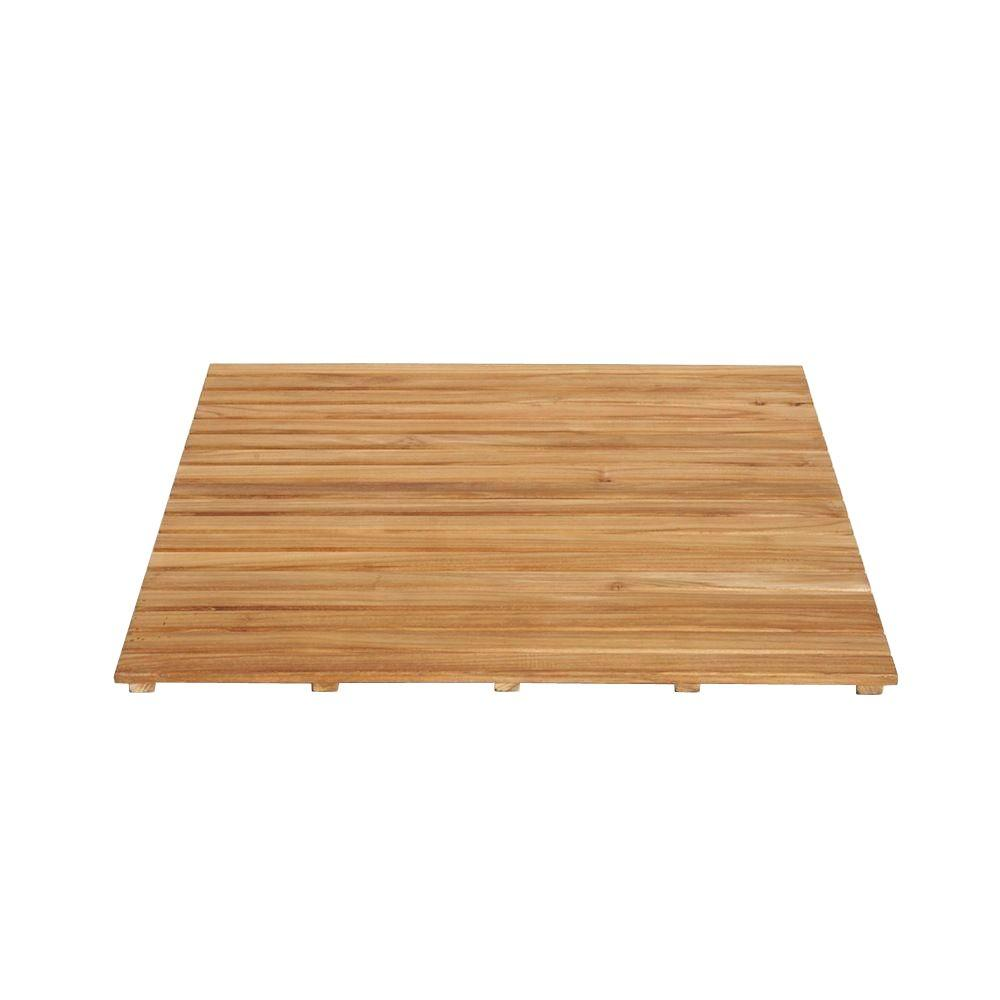Arb Teak Specialties 36 In X Bathroom Shower Mat Natural