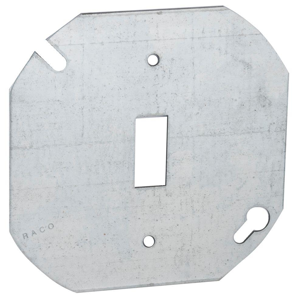 Raco 4 In Octagon Cover For Toggle Switch 50 Pack 729 The Home