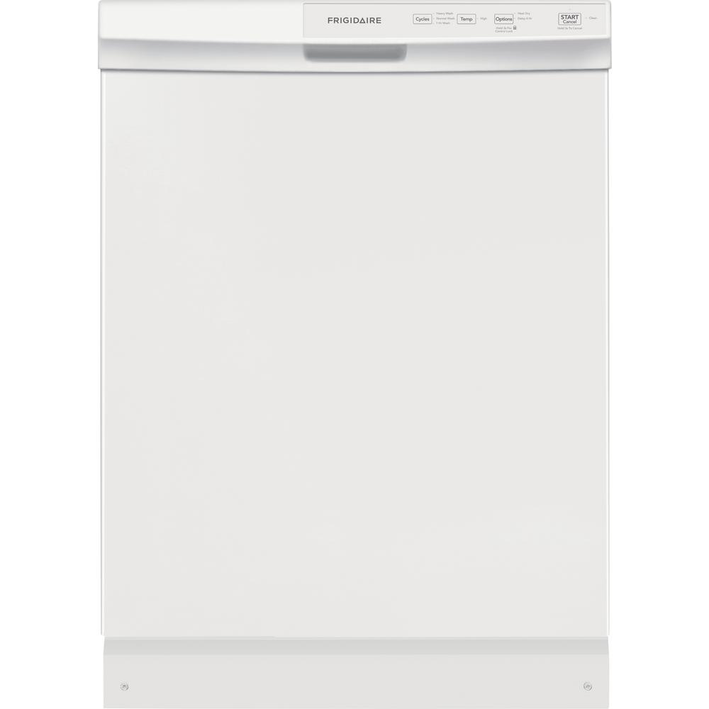 Frigidaire 24 In Black Built In Dishwasher: Frigidaire 24 In. Built-In Front Control Tall Tub