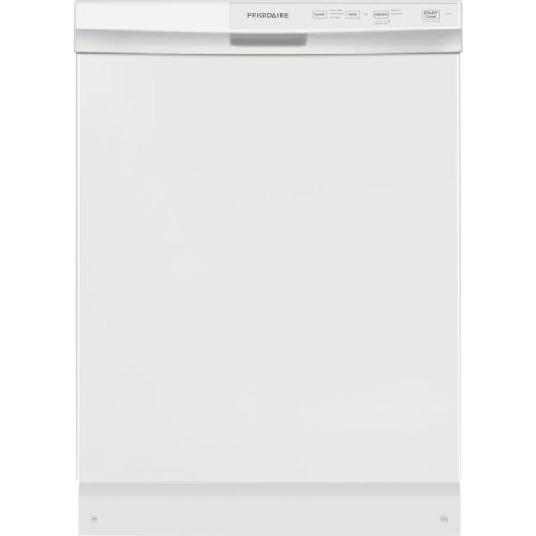 24 in. Built-In Front Control Tall Tub Dishwasher in White, 60 dBA