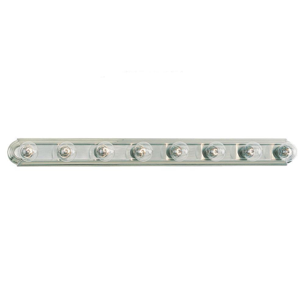 De-Lovely 8-Light Brushed Nickel Vanity Bar Light