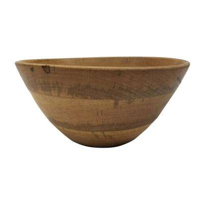 Vintage Inspired 10.75 in. Brown Mango Wood Bowl