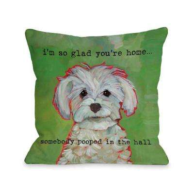 Somebody Pooped 16 in. x 16 in. Decorative Pillow