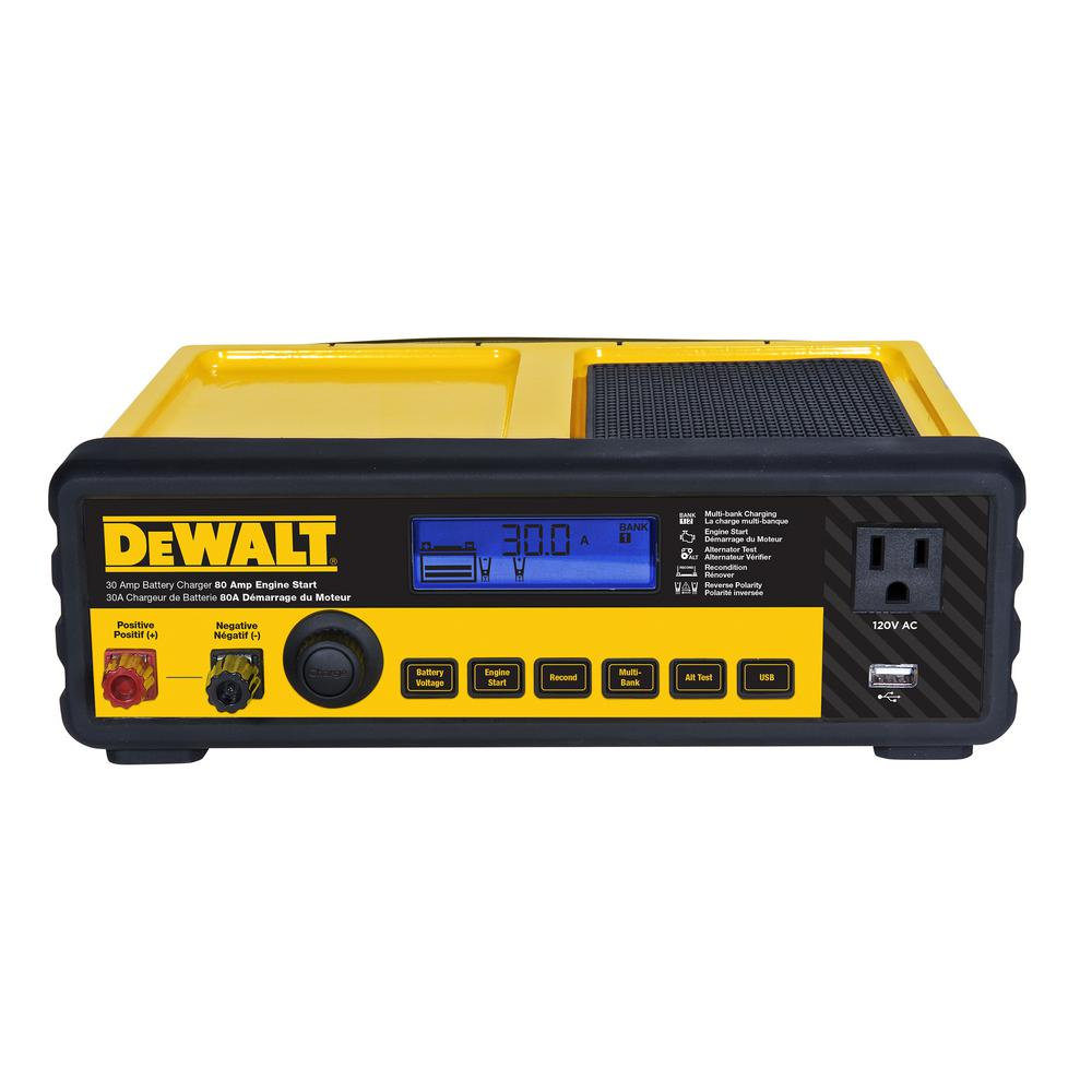 Dewalt 30 Amp Multi Bank Battery Charger With 80 Engine Start