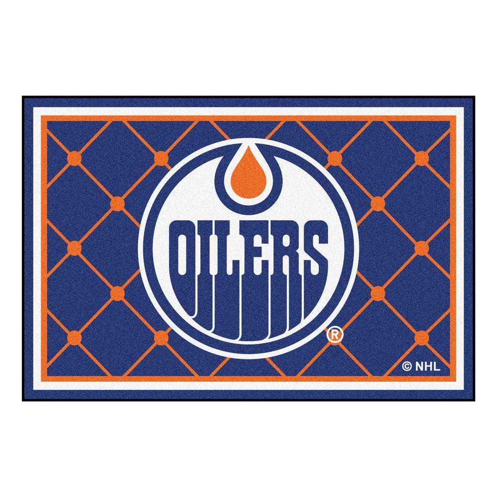 Fanmats Nhl Edmonton Oilers Blue 5 Ft X 8 Indoor Area Rug