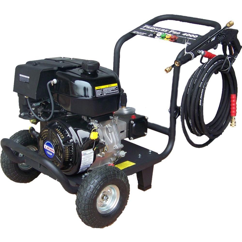 LIFAN Pro-Series 4000-PSI 4-GPM AR Triplex Pump Professional Gas Pressure Washer