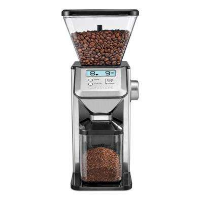 Deluxe Grind Conical Burr Mill, Coffee Grinder in Brushed Stainless