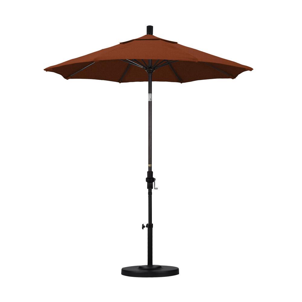 California Umbrella 7 1 2 Ft Fiberglass Collar Tilt Patio Umbrella