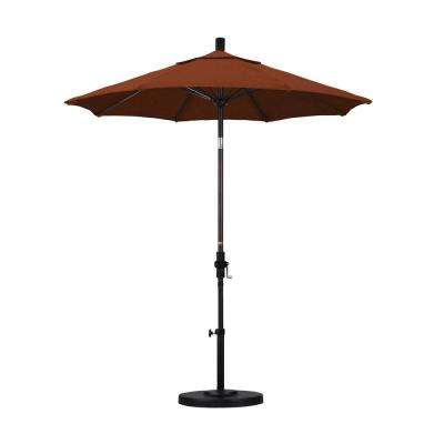 7-1/2 ft. Fiberglass Collar Tilt Patio Umbrella in Terracotta Olefin