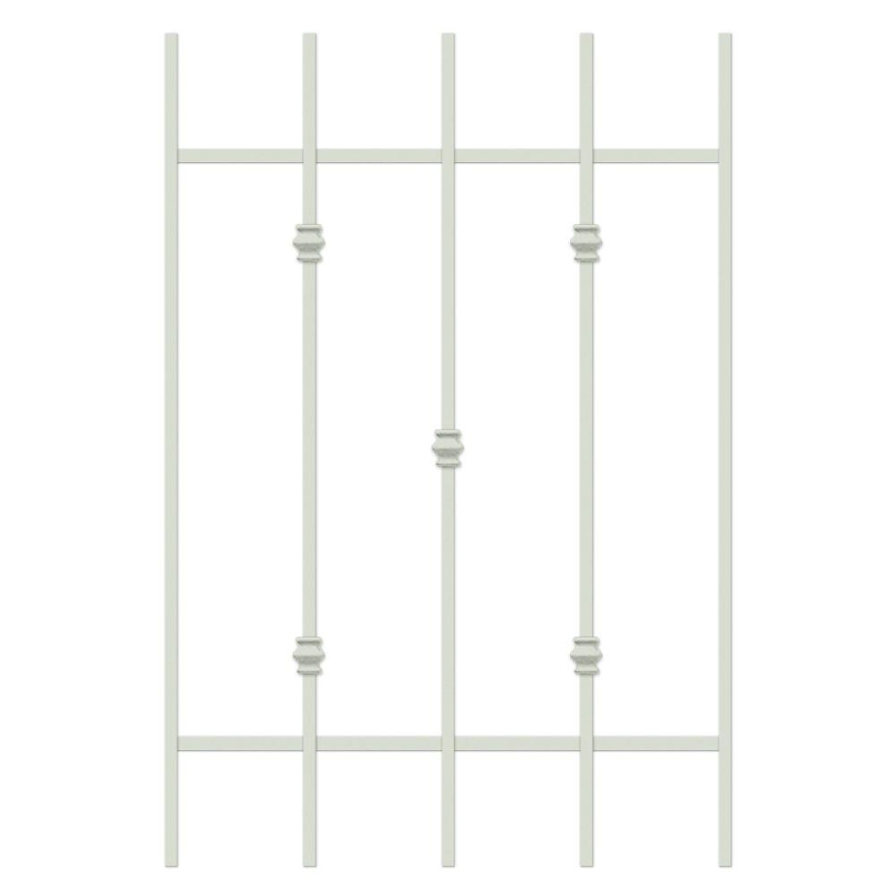 Unique Home Designs Cabo Bella 24 in. x 36 in. Almond 5-Bar Window Guard-DISCONTINUED
