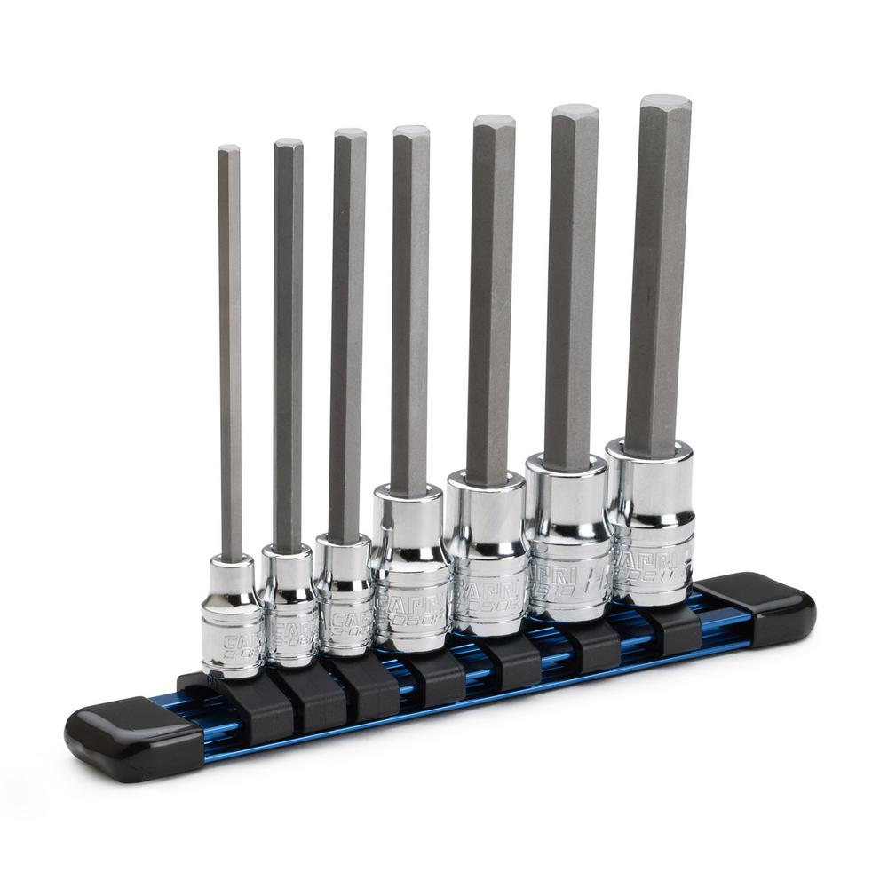 Metric Long Hex Bit Socket Set (7-Piece)