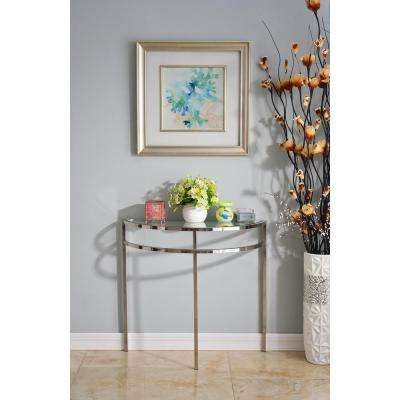 Nolan Steel Glass Top Console Table