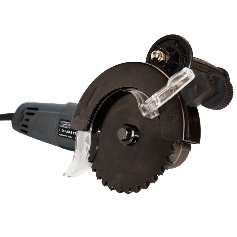Professional Woodworker 4,200 RPM 5 in. Corded Double Cut Saw with Tungsten Carbide Edges