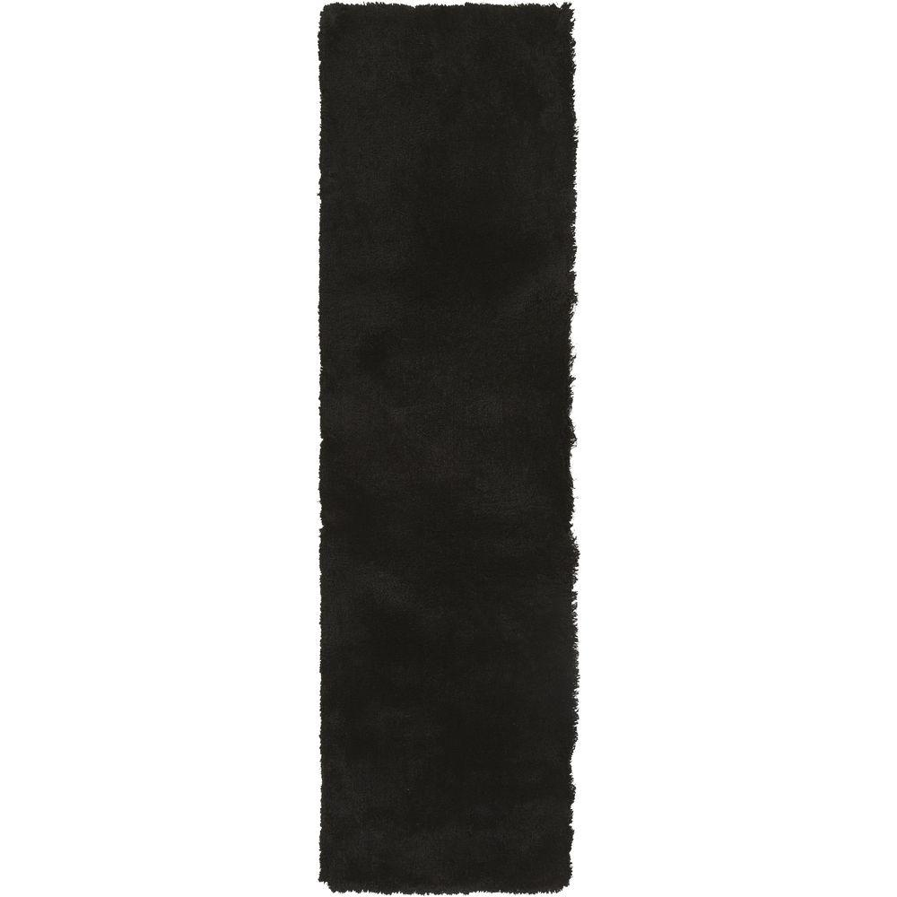 Viniani Black 2 ft. 3 in. x 8 ft. Indoor Rug