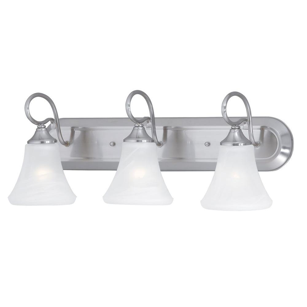 Elipse 3-Light Brushed Nickel Wall Vanity Light