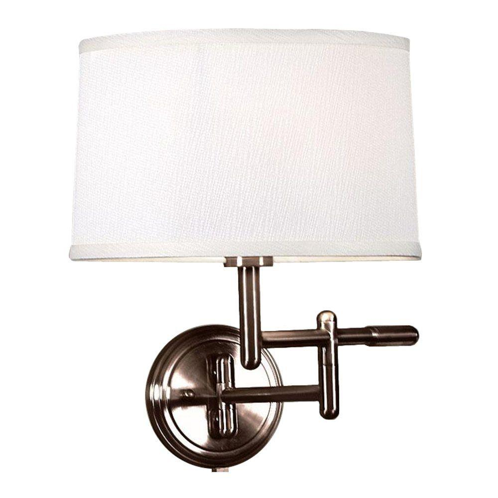 Home Decorators Collection 1-Light Oil-Rubbed Bronze Wall Pivoter Swing-Arm Lamp