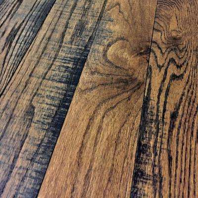 band sawn dark sienna red oak 34 in thick x 314 in wide x random length solid hardwood flooring 225 sq ftcase