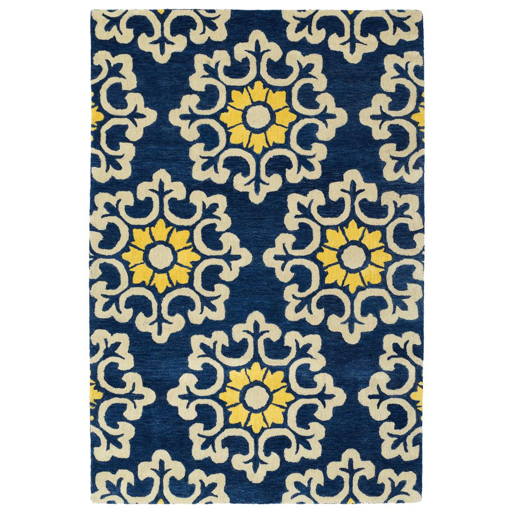 Bohemian Comfort Blue 9 ft. x 12 ft. Area Rug