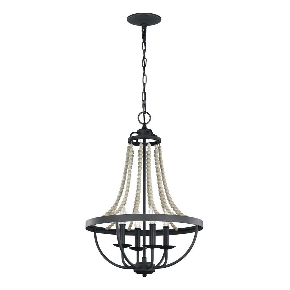 Feiss Nori 4-Light Dark Weathered Zinc and Driftwood Grey Chandelier  sc 1 st  The Home Depot & Feiss Nori 4-Light Dark Weathered Zinc and Driftwood Grey Chandelier ...