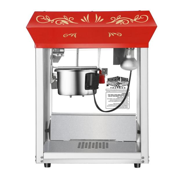 Foundation 6 oz. Red Countertop Popcorn Machine