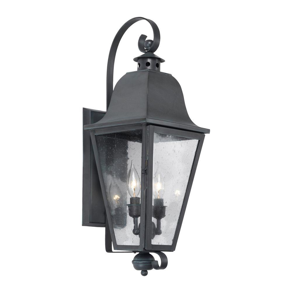 Titan Lighting Brookridge 2-Light Wall Mount Outdoor Charcoal Sconce