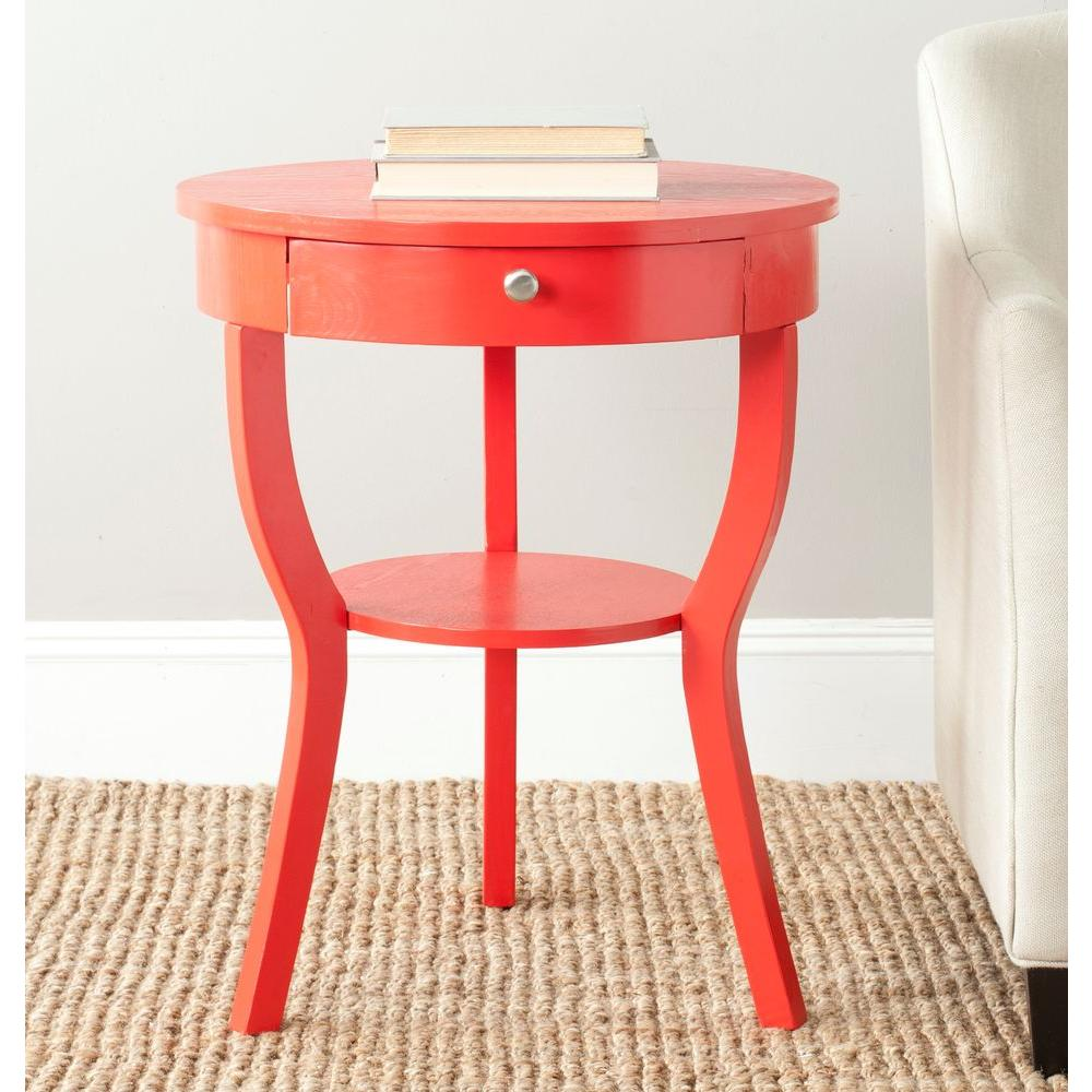 Safavieh Kendra Hot Red Storage End Table