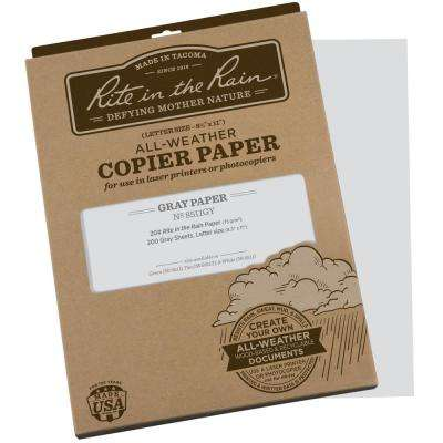 All-Weather 8-1/2 in. x 11 in. 20 lbs. Copier Paper, Gray (200-Sheet Pack)