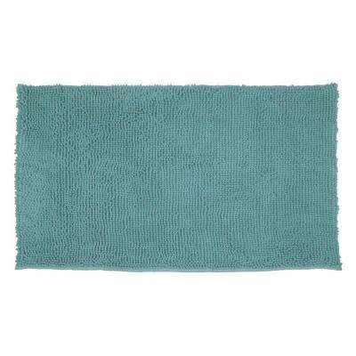 Plush Shag Chenille Marine Blue 21 In X 34 Bath Rug