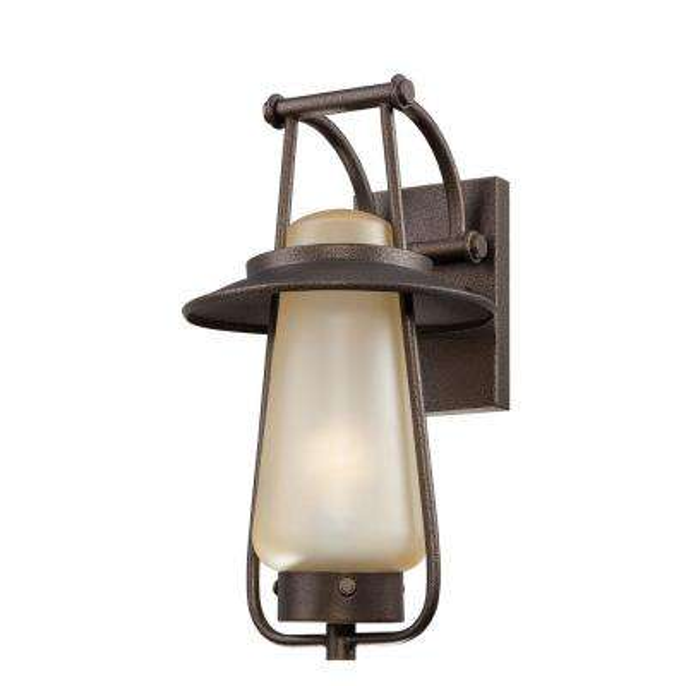 Stonyridge 1-Light Flemish Bronze Outdoor Fluorescent Wall Lantern