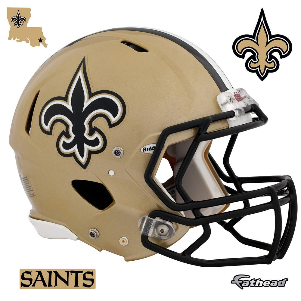 cc088002c1e Fathead 45 in. H x 56 in. W New Orleans Saints Helmet Wall Mural-11 ...