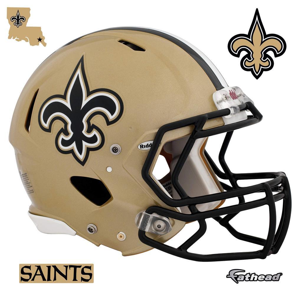 H x 56 in. W New Orleans Saints Helmet Wall Mural ccf22e861