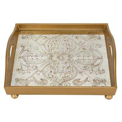 12 in. Manta Gold Square Tray
