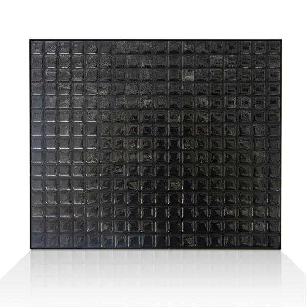 Smart Tiles Minimo Nero 11 55 In W X 9 64 In H Peel And