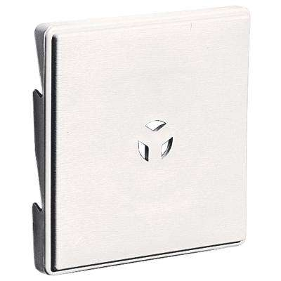 6.625 in. x 6.625 in. #117 Bright White Triple 3-Surface Light Mounting Block