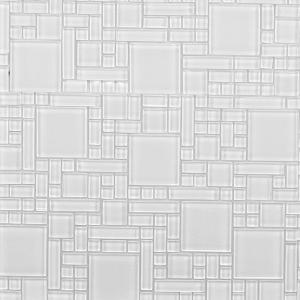 Instant Mosaic Peel and Stick Pure White 12 in x 12 in x 6 mm