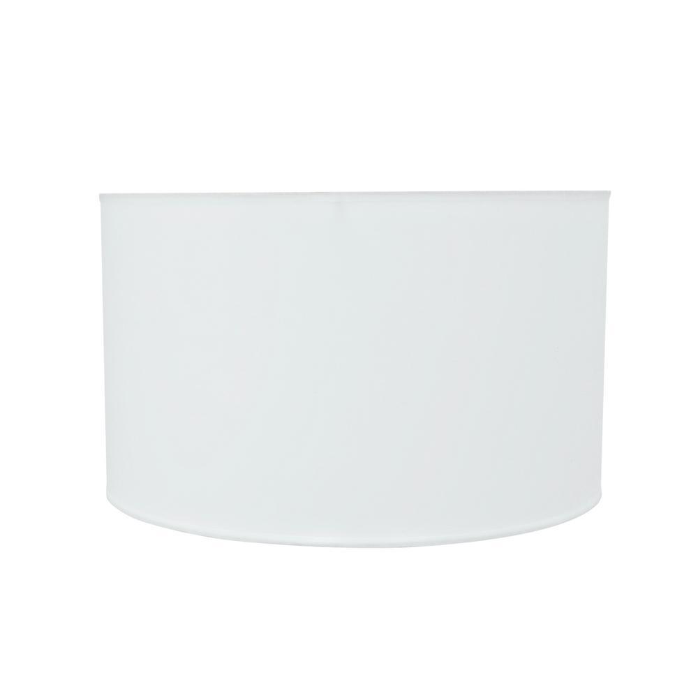 Aspen Creative Corporation 17 In X 10 Off White Hardback Drum Cylinder