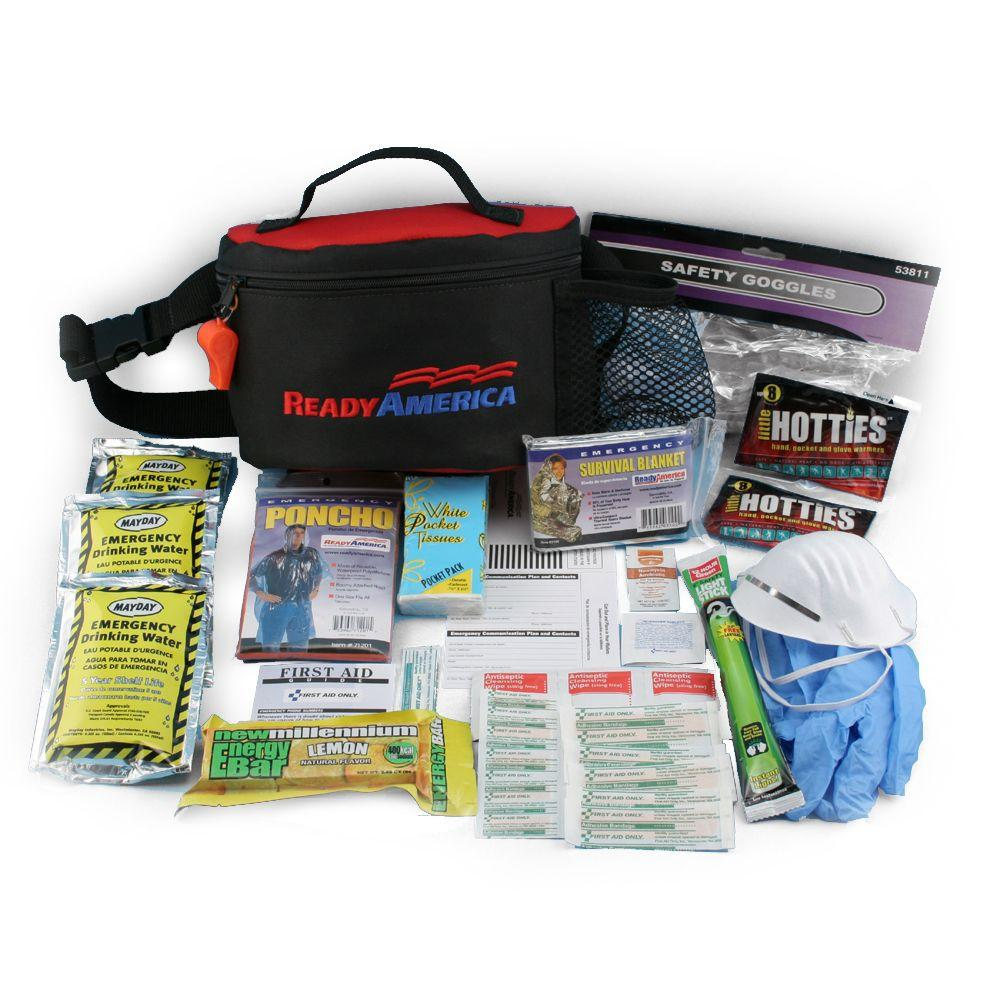 1-Person 1-Day Emergency Kit with Hip Pack