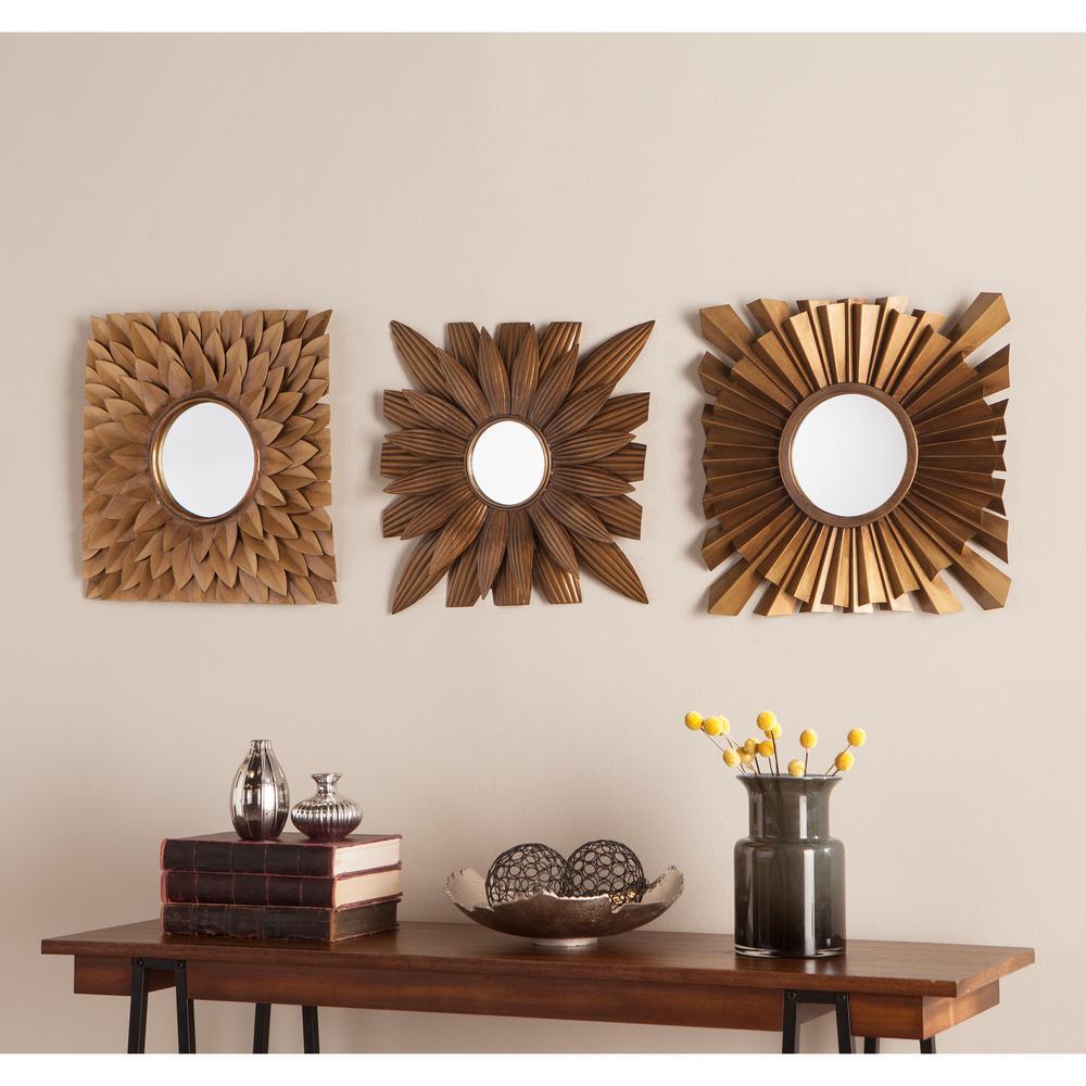 Nelam 3-Piece Decorative Mirror Set