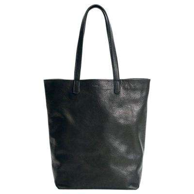 Basic Leather Tote Bag in Black