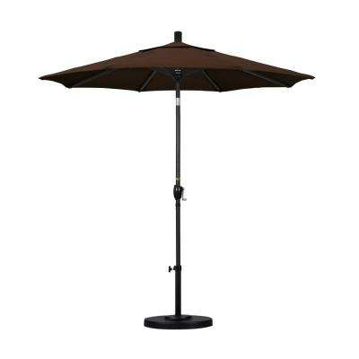 7-1/2 ft. Fiberglass Push Tilt Patio Umbrella in Mocha Pacifica