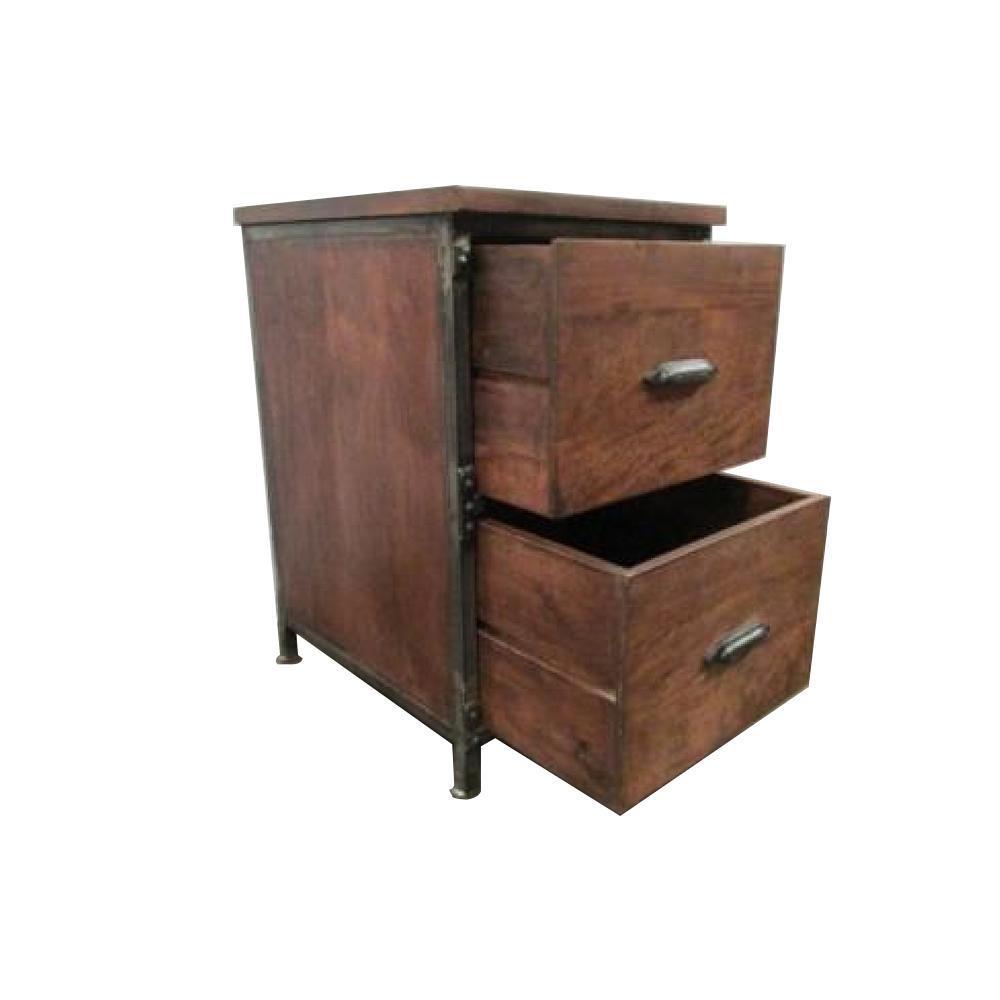 Y Decor Lafayette Medium Brown File Cabinet-B427 - The Home Depot