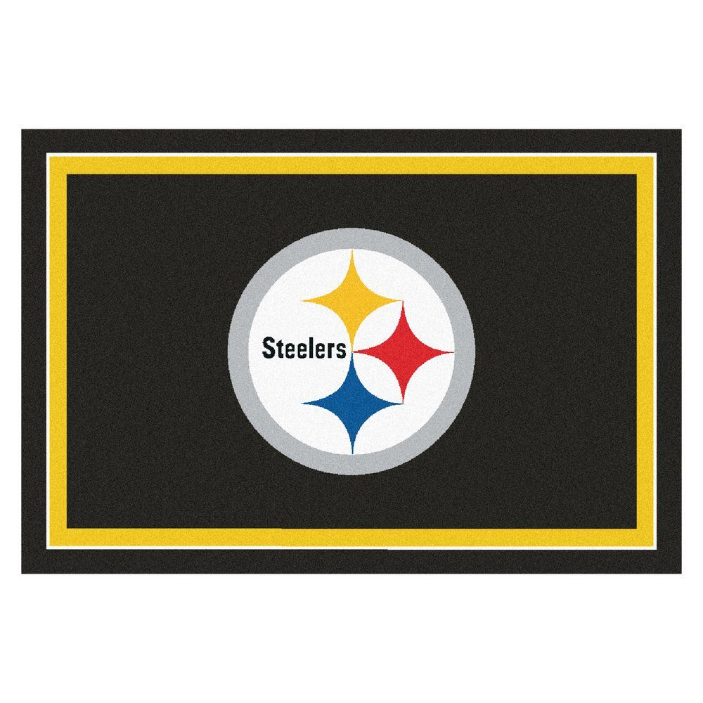 Fanmats Pittsburgh Steelers 5 Ft X 8 Area Rug