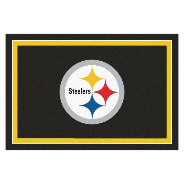 Fanmats Pittsburgh Steelers 5 Ft X 8 Ft Area Rug 6319 The Home Depot