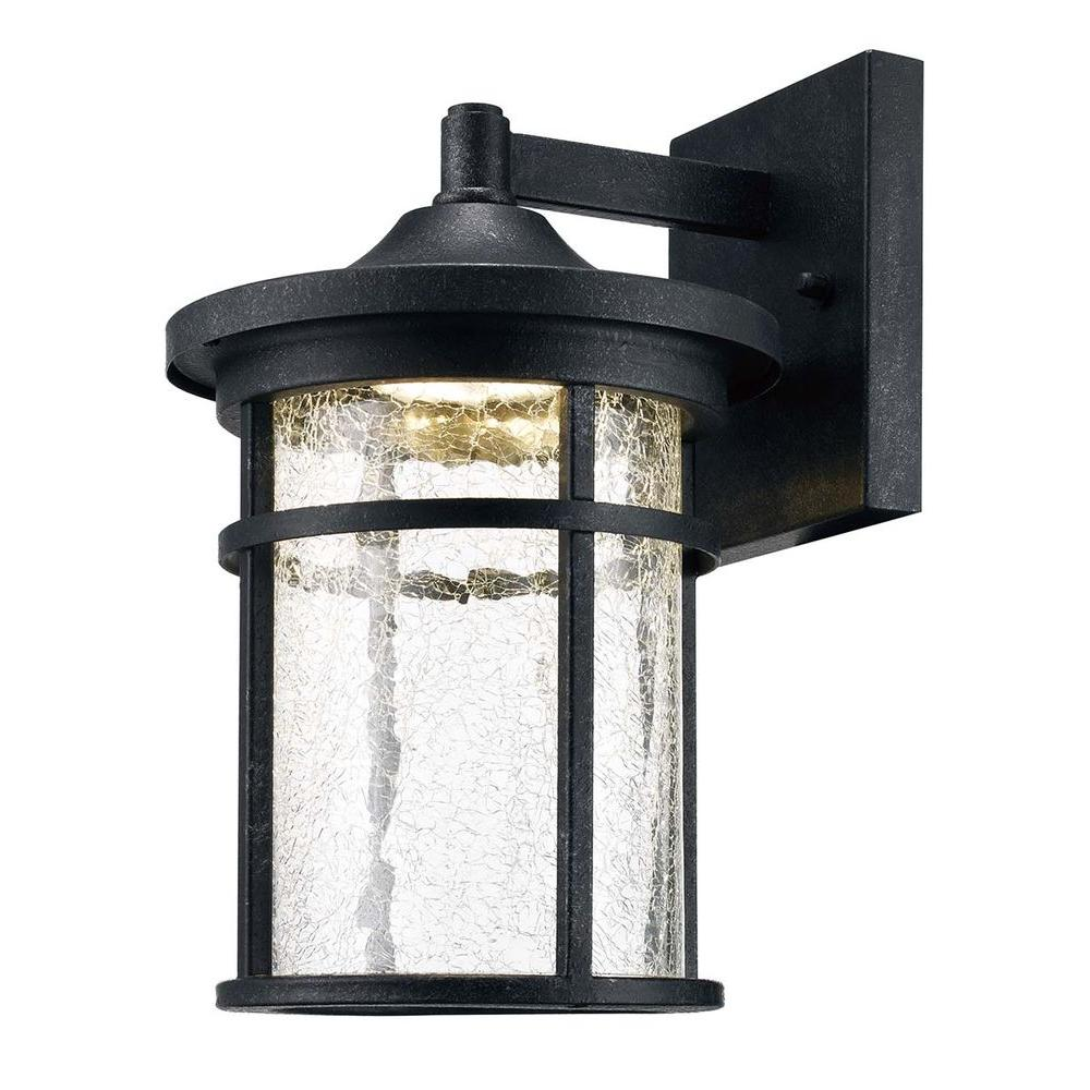 Gentil Home Decorators Collection Aged Iron Outdoor LED Wall Lantern With Crackle  Glass LED KB 08304   The Home Depot
