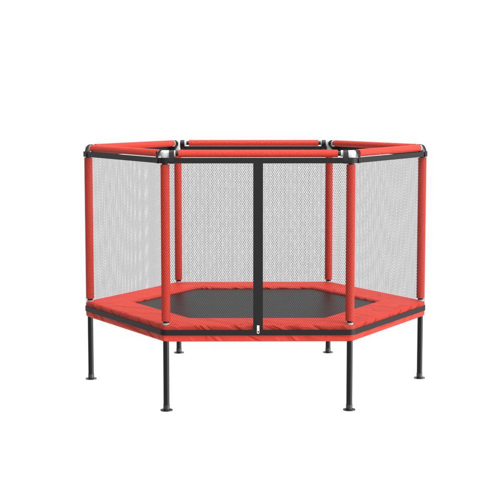 60-inch Round Backyard Trampoline Outdoor w/ Outdoor Safety Net