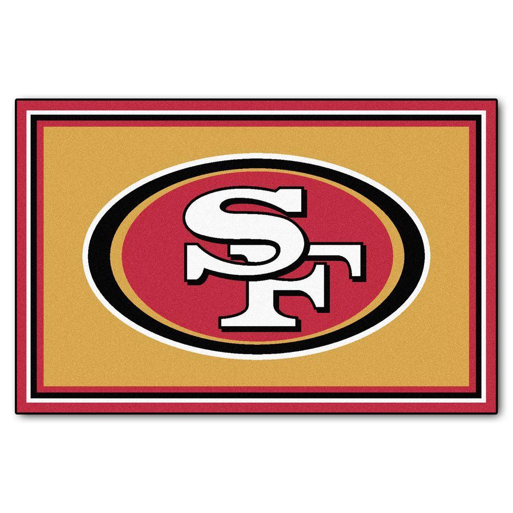 San Francisco 49ers 5 ft. x 8 ft. Area Rug