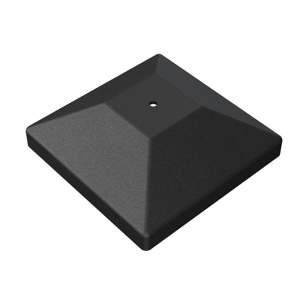 Outdoor Accents Black Decorative Post Cap for 4x4 Nominal Post