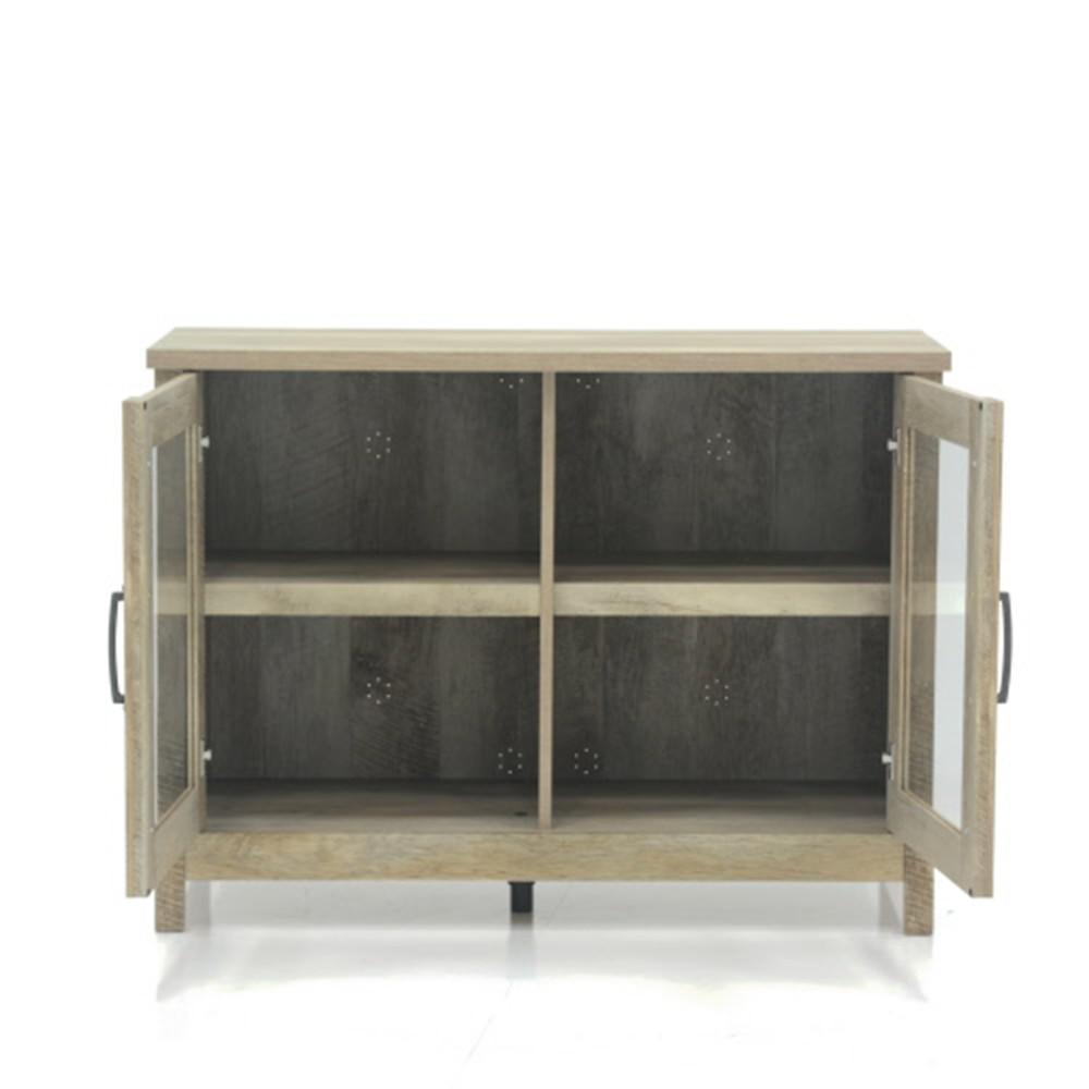 SAUDER Cannery Bridge Lintel Oak Storage Cabinet-420334 - The Home ...